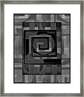 Theory Of Relativity Framed Print by Barbara St Jean