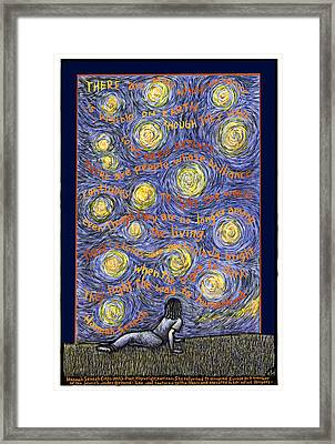 There Are Stars Framed Print by Ricardo Levins Morales
