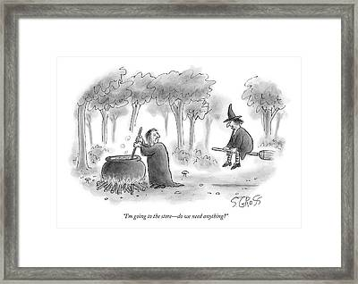 There Are Two Witches Framed Print by Sam Gross