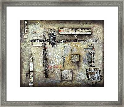 There Goes The Neighbourhood Framed Print by Cheryl Poulin