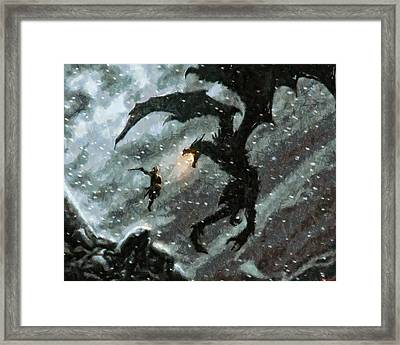 There Is No Fear Framed Print by Joe Misrasi