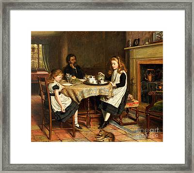 There Is No Fireside... Framed Print by George Goodwin Kilburne