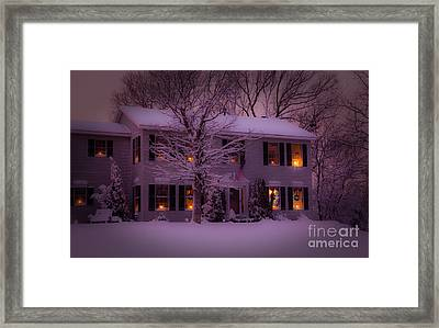 There Is No Place Like Home For The Holidays Framed Print by Wayne Moran