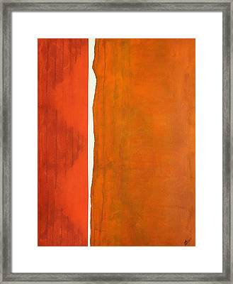 A Crack In Everything Original Painting Sold Framed Print by Sol Luckman