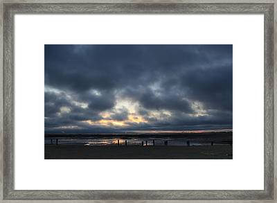 There's A Freedom In The Night Framed Print by Laurie Search