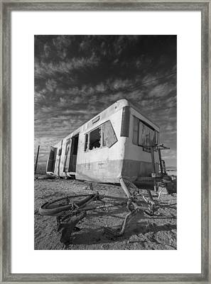 Theres My Bike Black And White Framed Print by Scott Campbell