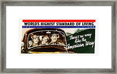 There's No Way Like The American Way Framed Print by Digital Reproductions