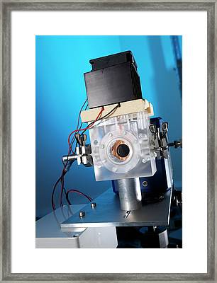 Thermal Camera For Co2 Detection Framed Print by Andrew Brookes, National Physical Laboratory