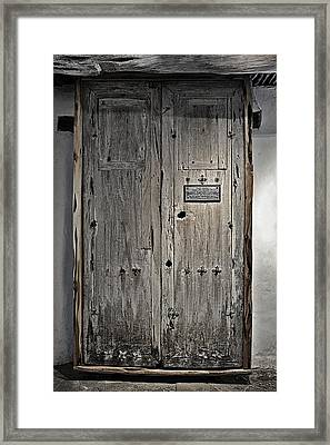 These Doors Tell A Long Story Framed Print by Christine Till