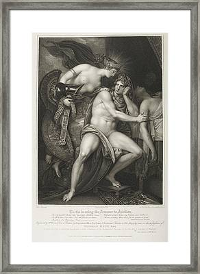 Thetis Bearing The Armour To Achilles Framed Print by British Library