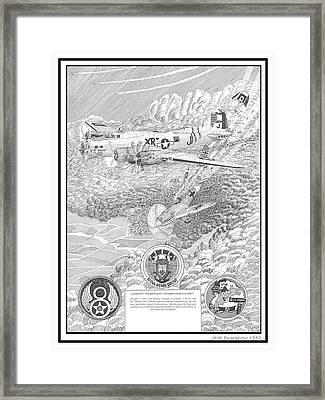 They All Lived Crash Of Boeing B 17 And Me 109 Framed Print by Jack Pumphrey