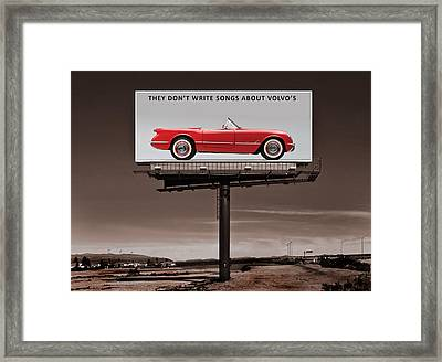 They Dont Write Songs Framed Print by Mark Rogan