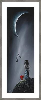 They Feel Your Love Song - Surreal Art By Shawna Erback Framed Print by Shawna Erback