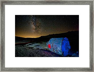 They've Landed Framed Print by Peter Tellone