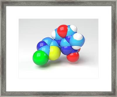 Thiamethoxam Molecule Framed Print by Indigo Molecular Images