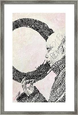 Thich Nhat Hanh Framed Print by Michael  Volpicelli