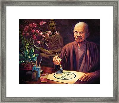 Thich Nhat Hanh Framed Print by Steve Simon