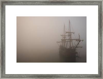 Thick Fog Blankets El Galeon  Framed Print by Stacey Sather