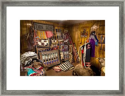 Thin Bear Trading Post Utah Framed Print by Steve Gadomski