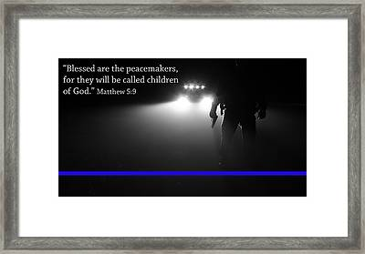 Thin Blue Line Framed Print by Jerry Mann