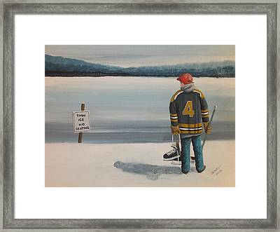 Thin Ice -  Bobby Framed Print by Ron  Genest