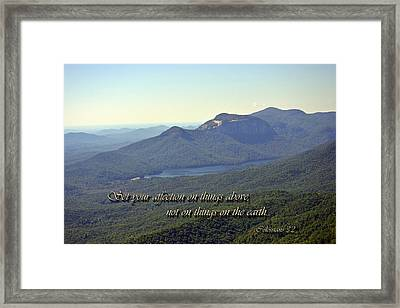 Things Above Framed Print by Larry Bishop