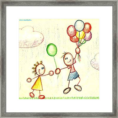 Things Are Looking Up  Framed Print by Cristophers Dream Artistry