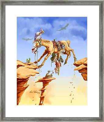 Things Are Looking Up Framed Print by Nate Owens