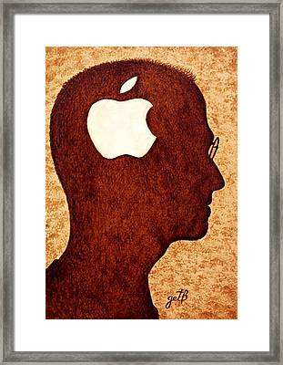 Think Different Tribute To Steve Jobs Framed Print by Georgeta  Blanaru