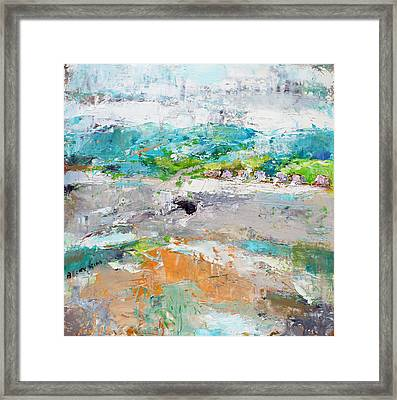 Thinking About Winter In Summer Time 2 Framed Print by Becky Kim
