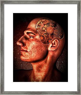 Thinking Man Framed Print by Bob Orsillo