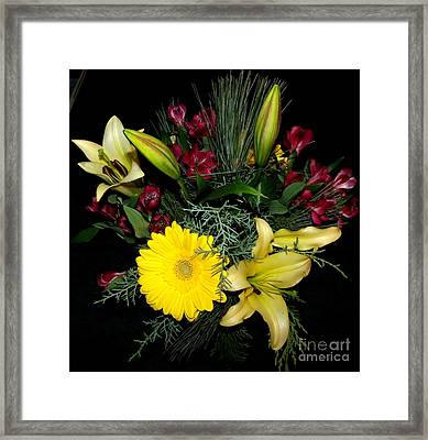 Thinking Of You Bouquet Framed Print by Gail Matthews