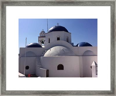 Thirasia Santorini Island Greece Framed Print by Colette V Hera  Guggenheim