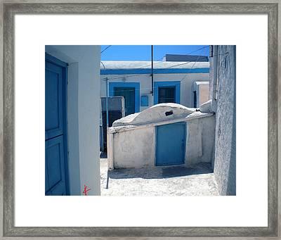Thirasia Santorini Island Hause Framed Print by Colette V Hera  Guggenheim