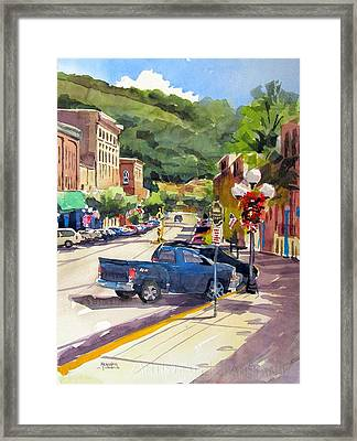 Third And East Red Wing Framed Print by Spencer Meagher