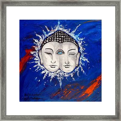 Third Eye Chakra Indigo Anja  Framed Print by Holly Anderson and Pato Aguilar