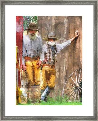 This Ain't Getting The Job Done Boys Framed Print by L Wright