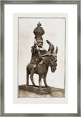 This Casting Of A Former King Of Benin Was Made By Natives Framed Print by Litz Collection