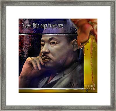 This Cup - The Reality That Was King Framed Print by Reggie Duffie