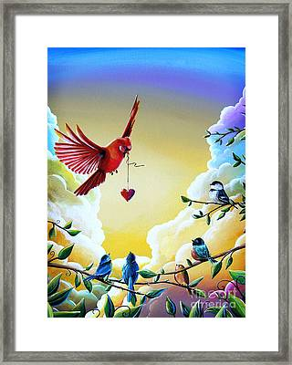 This Heart Of Mine Framed Print by Cindy Thornton
