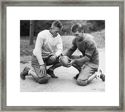 This Is A Football Framed Print by Underwood Archives
