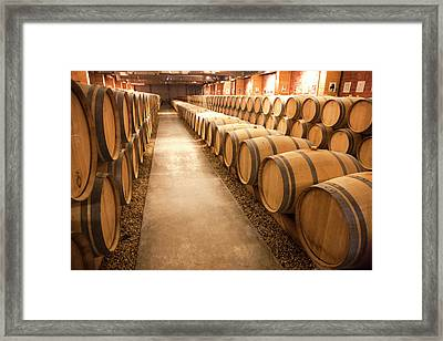 This Is A Storage Area For Wine Framed Print by Mallorie Ostrowitz