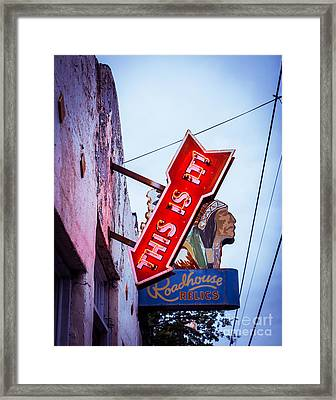 This Is It Neon Sign Framed Print by Sonja Quintero