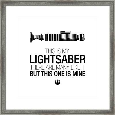 This Is Luke's Lightsaber Framed Print by Vincent Carrozza