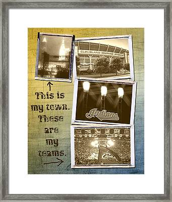 This Is My Town These Are My Teams Framed Print by Kenneth Krolikowski