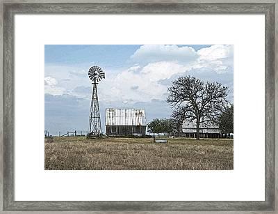 This Is Texas Framed Print by Cheri Randolph