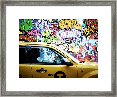 This Is The City And I Am One Of The Citizens Framed Print by Natasha Marco
