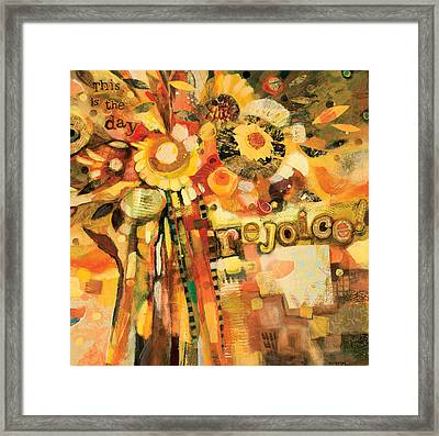 This Is The Day To Rejoice Framed Print by Jen Norton