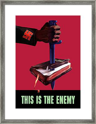This Is The Enemy Framed Print by War Is Hell Store