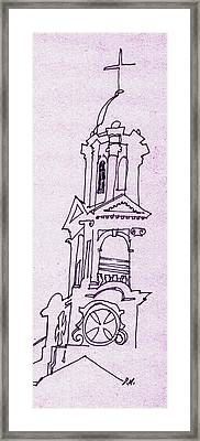 This Is The Steeple Framed Print by Dale Michels